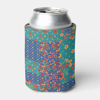 かわいらしくノスタルジックで模造のなパッチワークのクーラーボックス 缶クーラー