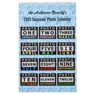 かわいらしく季節的な場面|カスタムな家族写真2018年 カレンダー