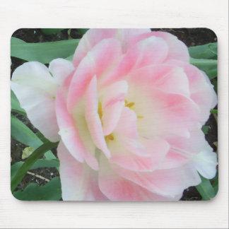 かわいらしく敏感でフェミニンな花の白いピンクのギフト マウスパッド