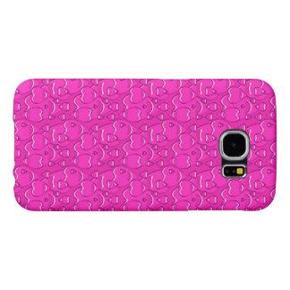 かわいらしく明るいピンクのロマンチックな愛ハートパターン SAMSUNG GALAXY S6 ケース