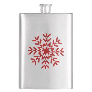 かわいらしく赤いクリスマスの雪片 フラスク