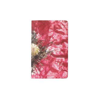 かわいらしく赤いケシの花のマクロノートカバー ポケットMoleskineノートブック