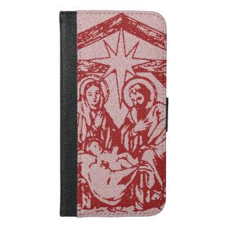 かわいらしく赤い出生 iPhone 6/6S PLUS ウォレットケース