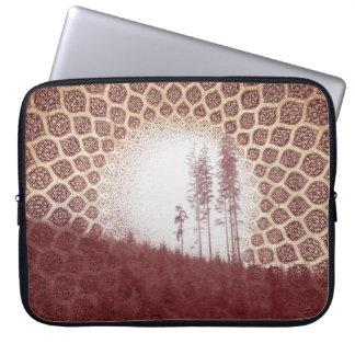 かわいらしく赤い森林ボヘミアの種族の日曜日および木 ラップトップスリーブ