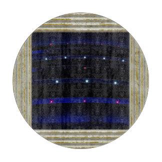 かわいらしく青いライトは縞で飾ります カッティングボード