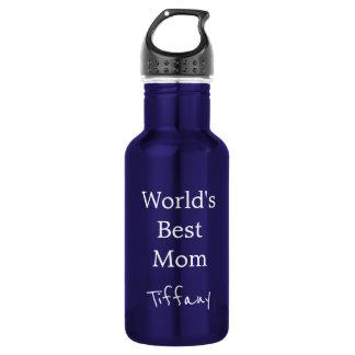 かわいらしく青い世界のベストのお母さん ウォーターボトル