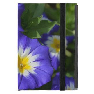 かわいらしく青い旗の朝顔 iPad MINI ケース