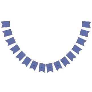 かわいらしく青い花パターン バンティングフラッグ