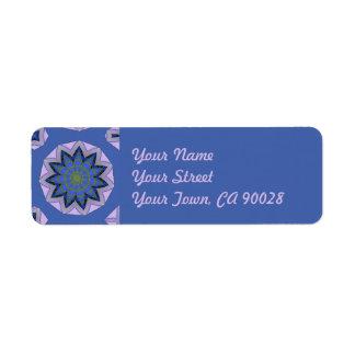 かわいらしく青い花柄 ラベル