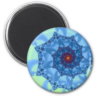 かわいらしく青い螺線形のつららのデザイン マグネット