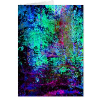 かわいらしく青および紫色の抽象的でグランジなアワビ カード