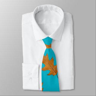 かわいらしく青く大きい葉の自然のプリントのタイ ネクタイ