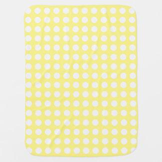 かわいらしく黄色い水玉模様のベビーブランケット ベビー ブランケット