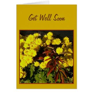 かわいらしく黄色い花は健康なテンプレートカードをすぐに得ます カード