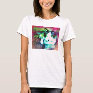 かんじきの混合メディアの子猫 Tシャツ