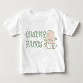 がっしりしたズボンのロゴのティー-乳児 ベビーTシャツ