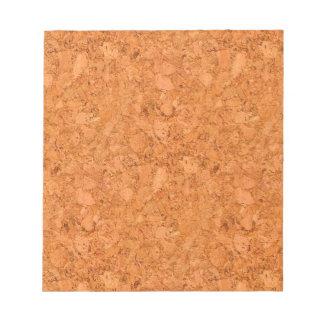 がっしりした自然なコルクの木製の穀物の一見 ノートパッド