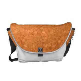 がっしりした自然なコルクの木製の穀物の一見 メッセンジャーバッグ