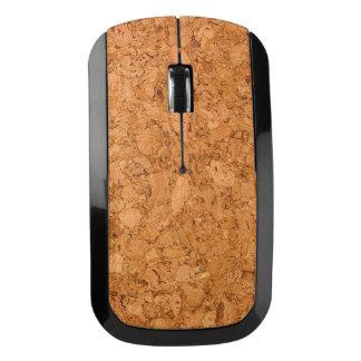 がっしりした自然なコルクの木製の穀物の一見 ワイヤレスマウス