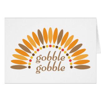 がつがつむさぼります感謝祭の空白のなメッセージカードをがつがつむさぼって下さい カード