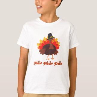 がつがつむさぼります-感謝祭トルコ- Tシャツをがつがつむさぼって下さい Tシャツ