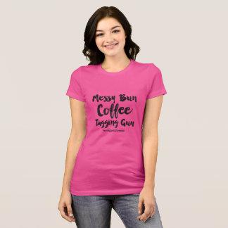 きたないパン、銃のTシャツに付けるコーヒー Tシャツ