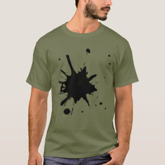 きたない人のペンキのしぶき Tシャツ