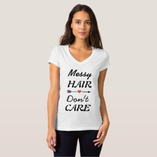 きたない毛の引用のかわいいTシャツ Tシャツ