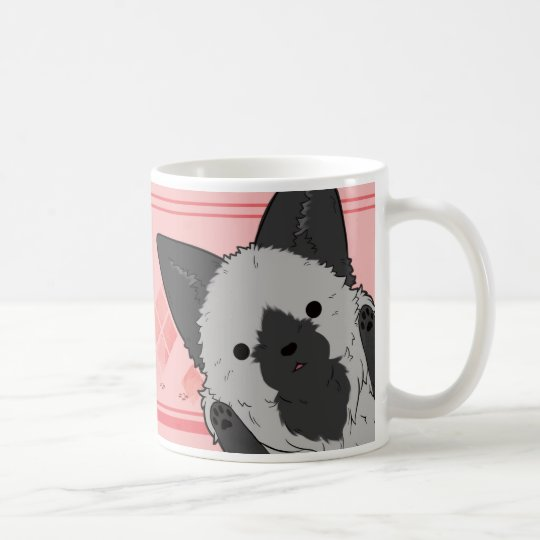 きつねマグカップ(ピンク) コーヒーマグカップ