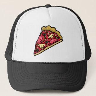 きのこおよびpepperoniピザ切れ キャップ