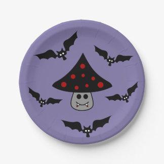 きのこの吸血鬼の紙皿 ペーパープレート