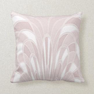 きのこの抽象芸術-アールデコ-ピンク クッション