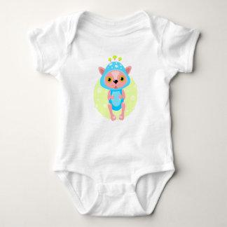 きのこの衣裳のかわいいペットが付いている赤ん坊のボディスーツ ベビーボディスーツ