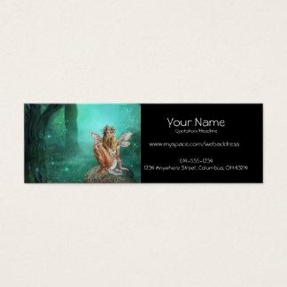 きのこパッチのプロフィールカードに坐っている妖精 スキニー名刺