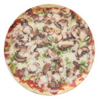きのこピザ プレート