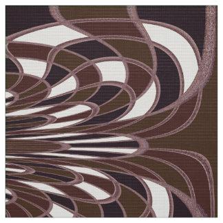 きのこ、抽象芸術-ヒースのスパイス-生地 ファブリック