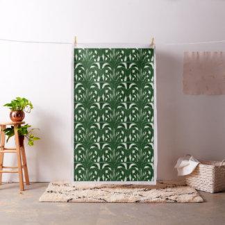 きのこ、抽象芸術-緑-生地 ファブリック