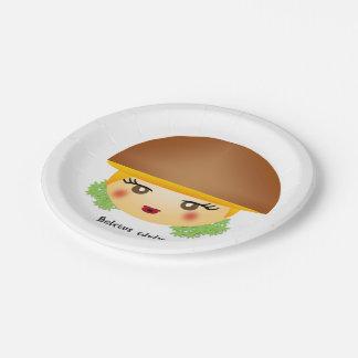 きのこ 紙皿 小