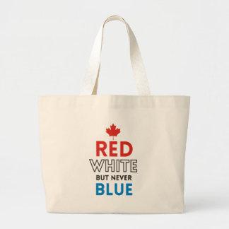 きば-赤い白しかし決して青 ラージトートバッグ