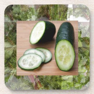 きゅうりのクールな心の健康な皮強壮性サラダ食糧 コースター