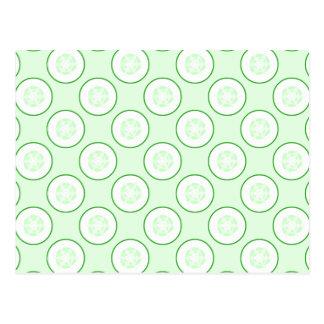 きゅうりの水玉模様パターン ポストカード