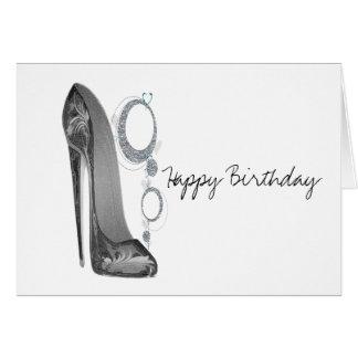 きらきら光るで及び素晴しい小剣の芸術の誕生日の挨拶状 カード
