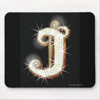 きらきら光るなアルファベットJ マウスパッド