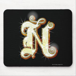 きらきら光るなアルファベットN マウスパッド