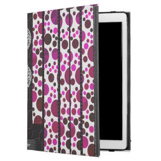 """きらきら光るなピンクの水玉模様 iPad PRO 12.9"""" ケース"""