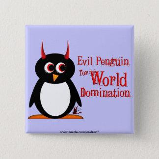きらきら光るな世界の統治のための邪悪なペンギン 5.1CM 正方形バッジ