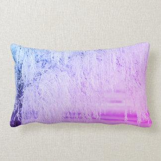 きらきら光るな紫色の雪場面 ランバークッション