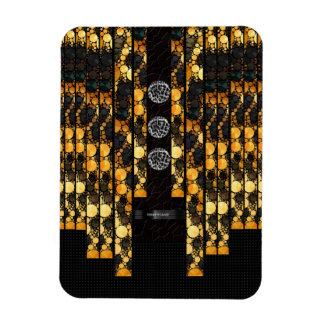 きらきら光るな金ゴールドの黒いチータ マグネット