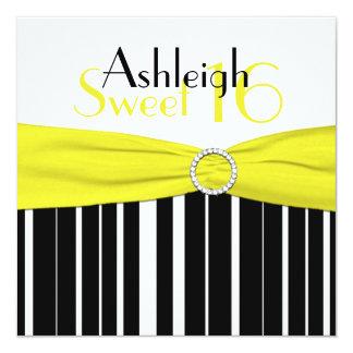 きらきら光るな黒く、黄色、白い菓子16の招待ののど カード