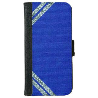 きらきら光るなiPhoneのウォレットケースが付いている青いスエード iPhone 6/6s ウォレットケース